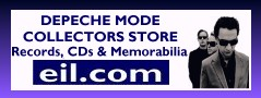 Depeche Mode Collectors Store at eil.com